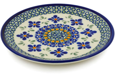 "6"" Bread Plate - Emerald Mosaic 