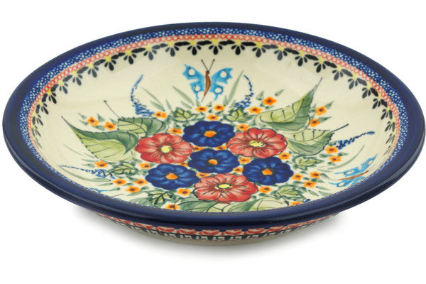 "9"" Pasta Bowl - Butterfly Garden 