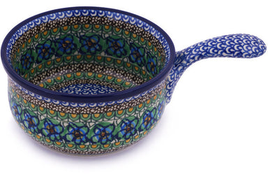 "6"" Round Baker with Handles - Moonlight Blossom 