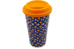 15 oz Travel Mug with Lid - P8939A | Polish Pottery House