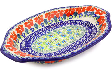 "12"" Platter with Handles - Athens Prairie 