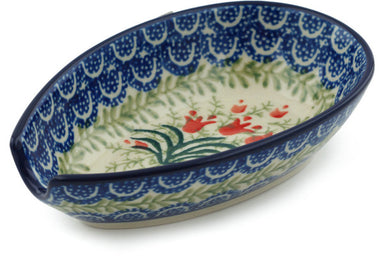 "5"" Spoon Rest - Crimson Bells 