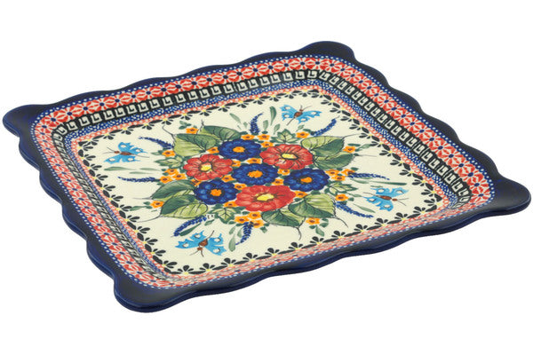 "9"" Platter - Butterfly Garden 