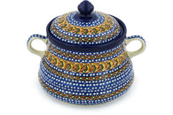 9 cup Jar with Lid and Handles - U159 | Polish Pottery House