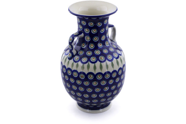 "12"" Vase - Blue Peacock 