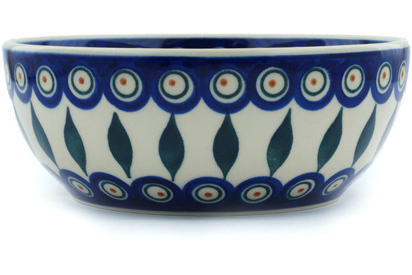 4 cup Serving Bowl - Peacock | Polish Pottery House