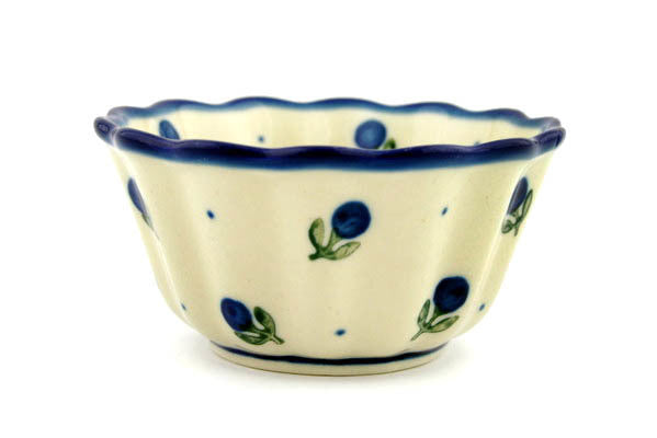 "4"" Fluted Bowl - Blue Buds 