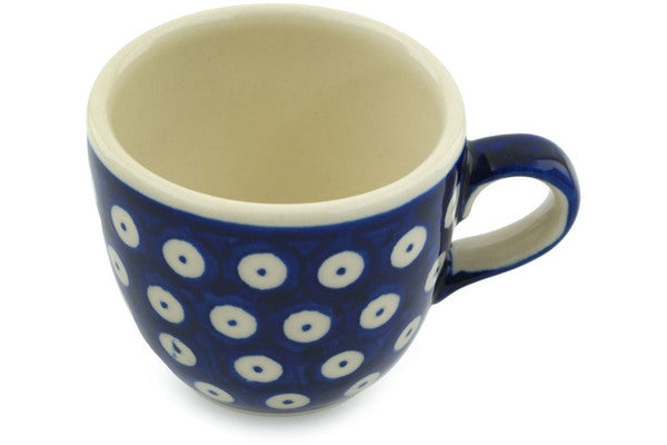 7 oz Cup - Polka Dot | Polish Pottery House