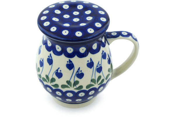 14 oz Brewing Mug - Blue Bell | Polish Pottery House