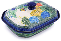 "12"" Covered Baker - Spring Garden 