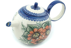 21 oz Tea Pot - P8943A | Polish Pottery House