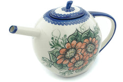 7 cup Tea Pot - P8943A | Polish Pottery House