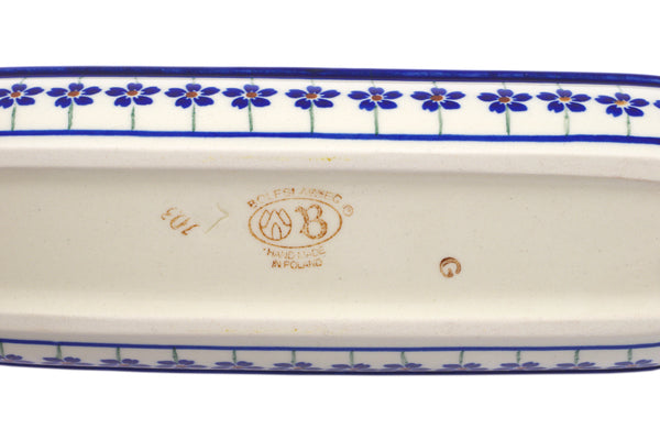 "9"" Corn Tray - Floral Peacock 