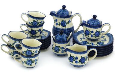 4 cup Dessert Set for 6 - Heritage | Polish Pottery House