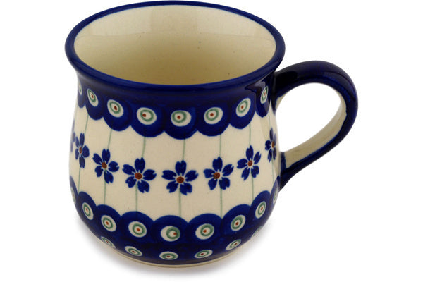 10 oz Cup - Floral Peacock | Polish Pottery House