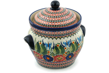 18 cup Canister - Butterfly Garden | Polish Pottery House