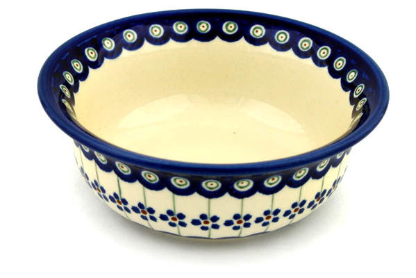 22 oz Cereal Bowl - Floral Peacock | Polish Pottery House