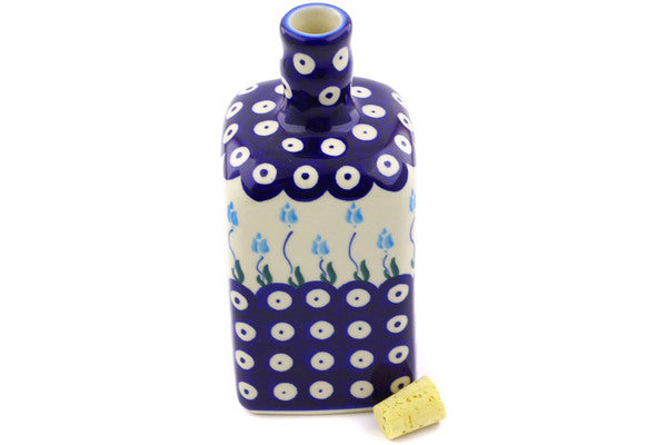18 oz Bottle - D107 | Polish Pottery House