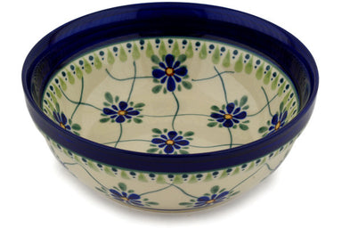 18 oz Cereal Bowl - Emerald Lattice | Polish Pottery House