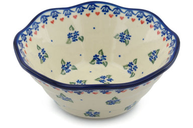 4 cup Fluted Bowl - D33 | Polish Pottery House