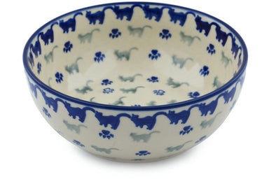 4 cup Serving Bowl - Cats on Parade | Polish Pottery House