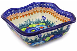 5 cup Square Bowl - D86 | Polish Pottery House