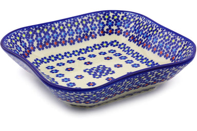 4 cup Square Bowl - P9286A | Polish Pottery House