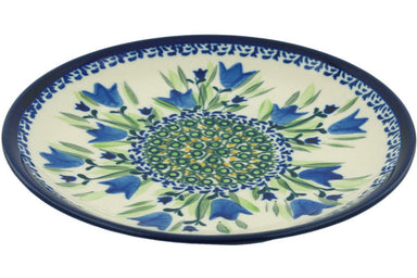 "8"" Salad Plate - Blue Tulips 