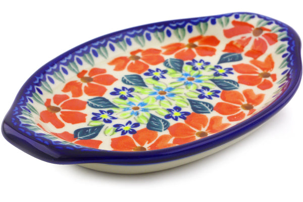 "7"" Platter with Handles - Athens Prairie 