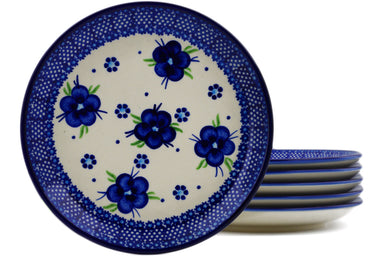 "Set of 6 7"" Dessert Plates - Victoria 