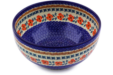 12 cup Serving Bowl - P9291A | Polish Pottery House