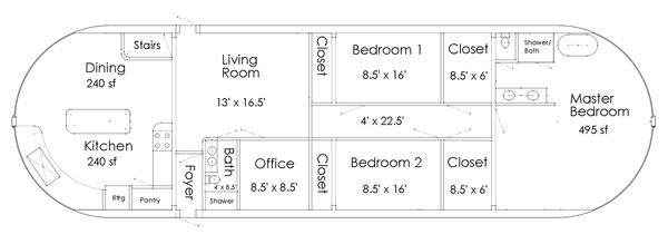 Floathouse floor plan dimensions
