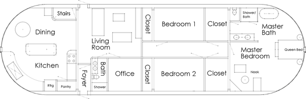 Floathouse Floor Plan Single Family Home