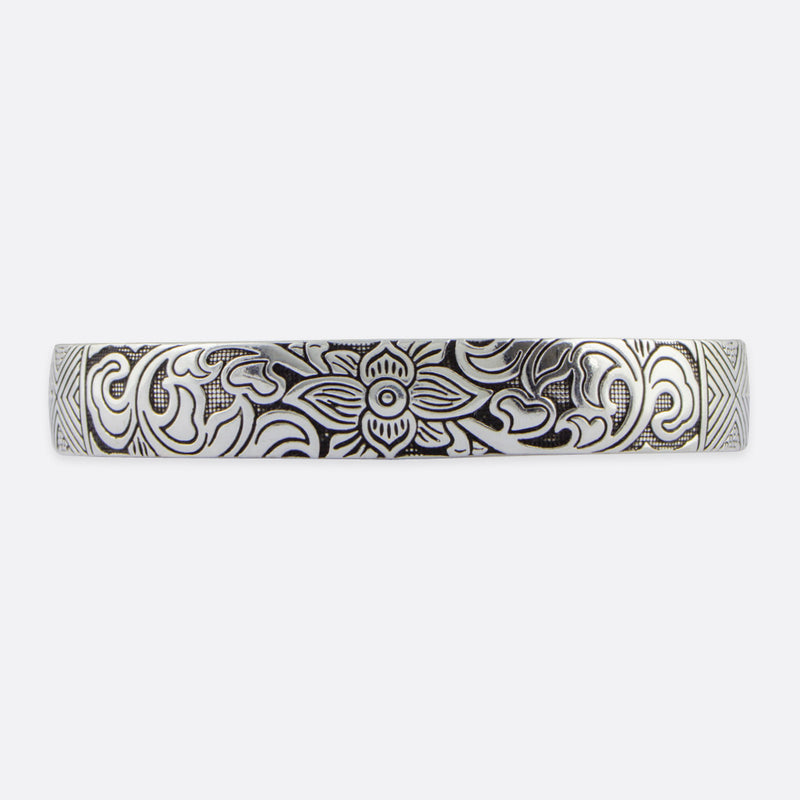 Floral Thai Patterned Bangle