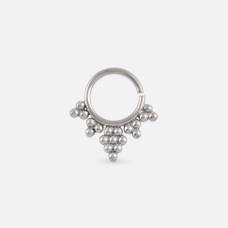Aditi Septum Ring- Sterling Silver 925