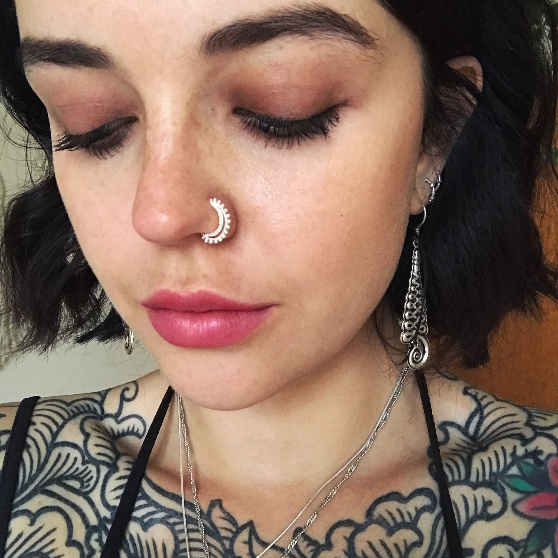 Clea Double Nose Ring Sterling Silver Norbu