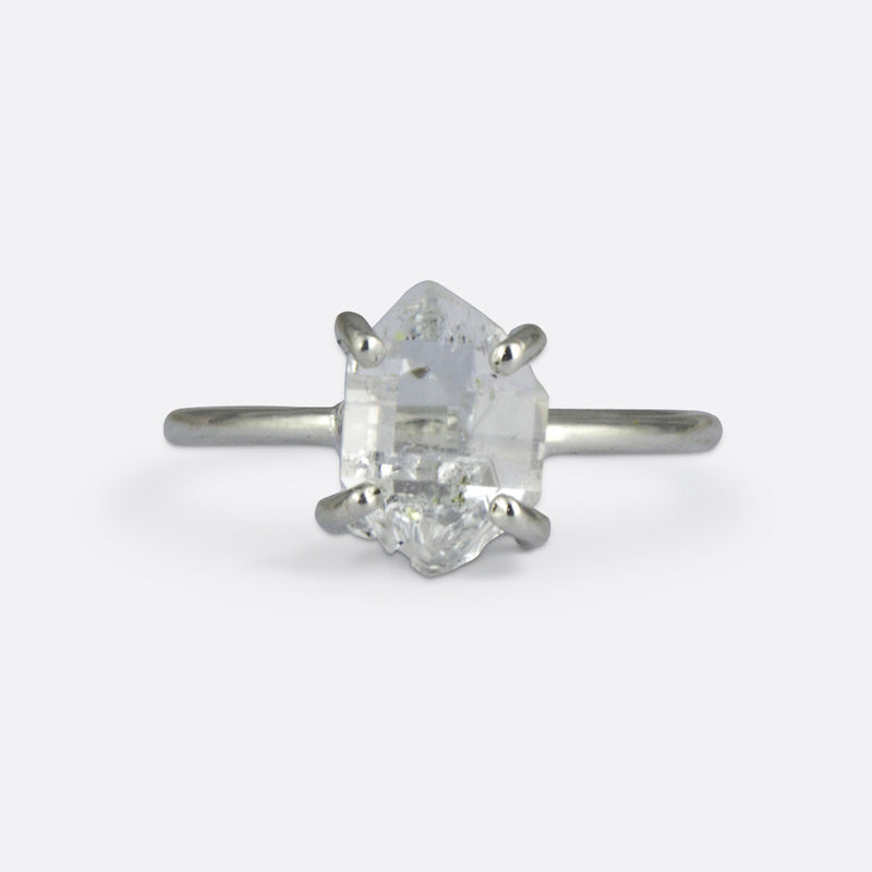 Aoife Ring- Herkimer Diamond and Sterling Silver