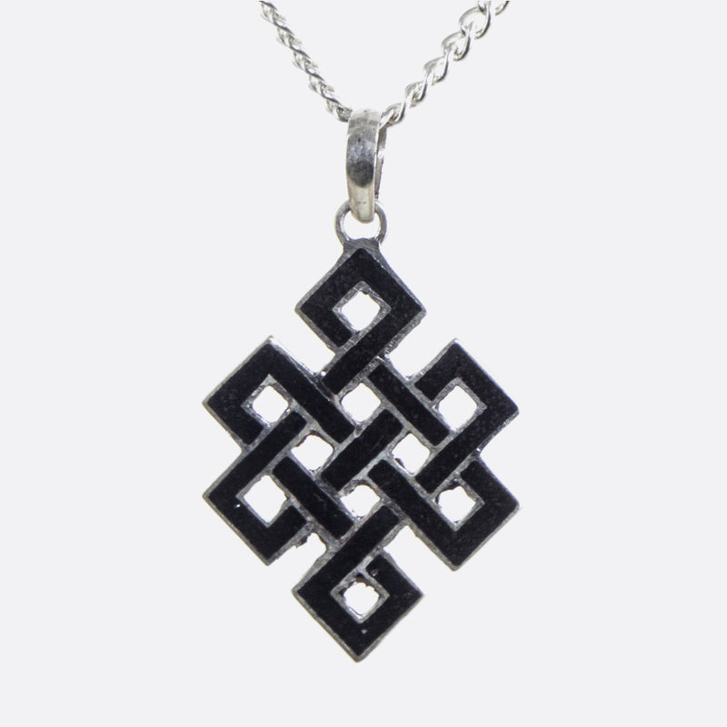 Black Endless Knot Necklace