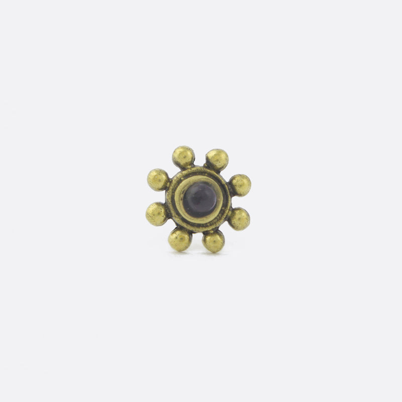 Bronze Flower Nose Stud