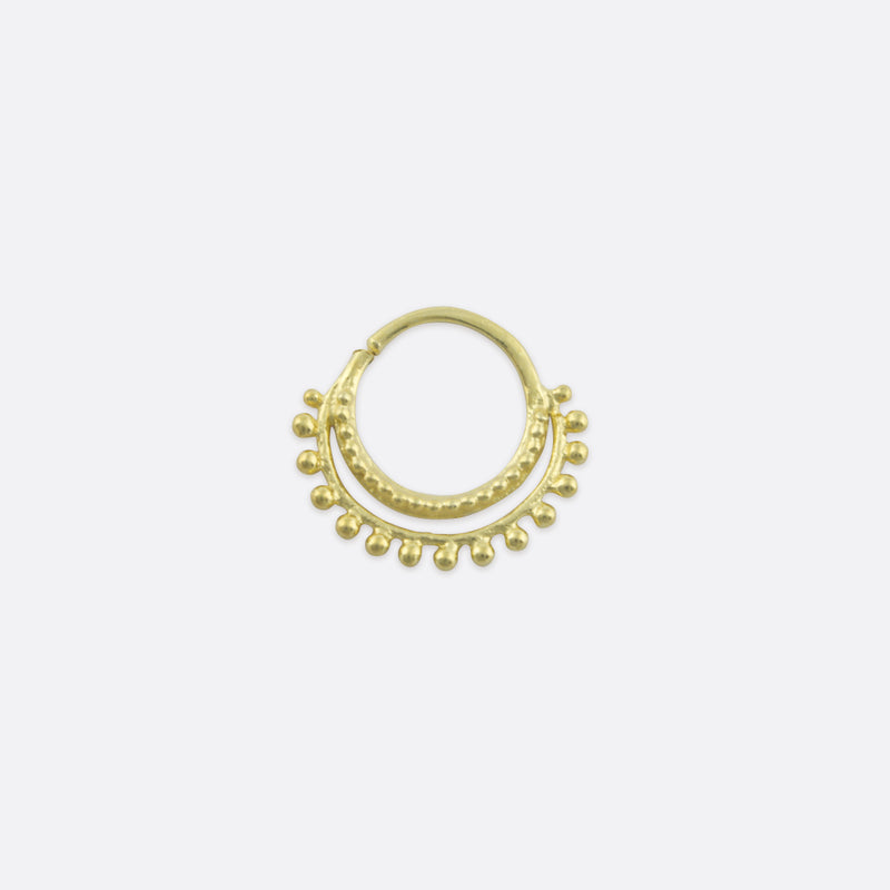 Clea Double Nose Ring- Gold