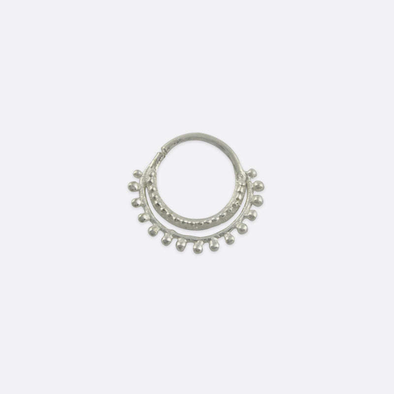 Clea Double Nose Ring- Sterling Silver