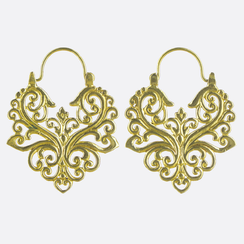 Deco Earrings- Gold