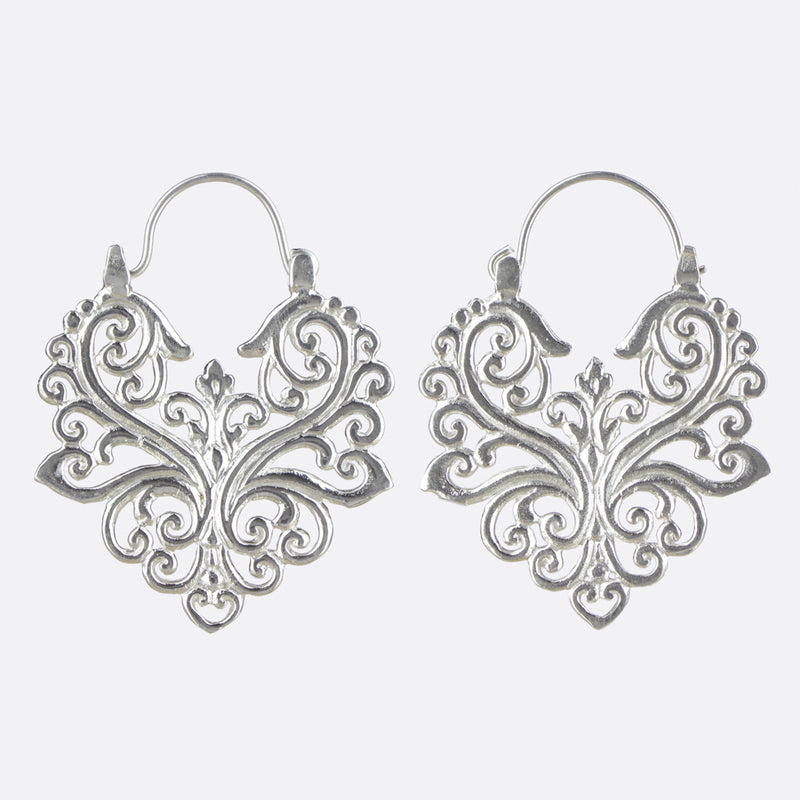 Deco Earrings- Silver