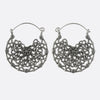 Filigree Mandala Earrings- Silver