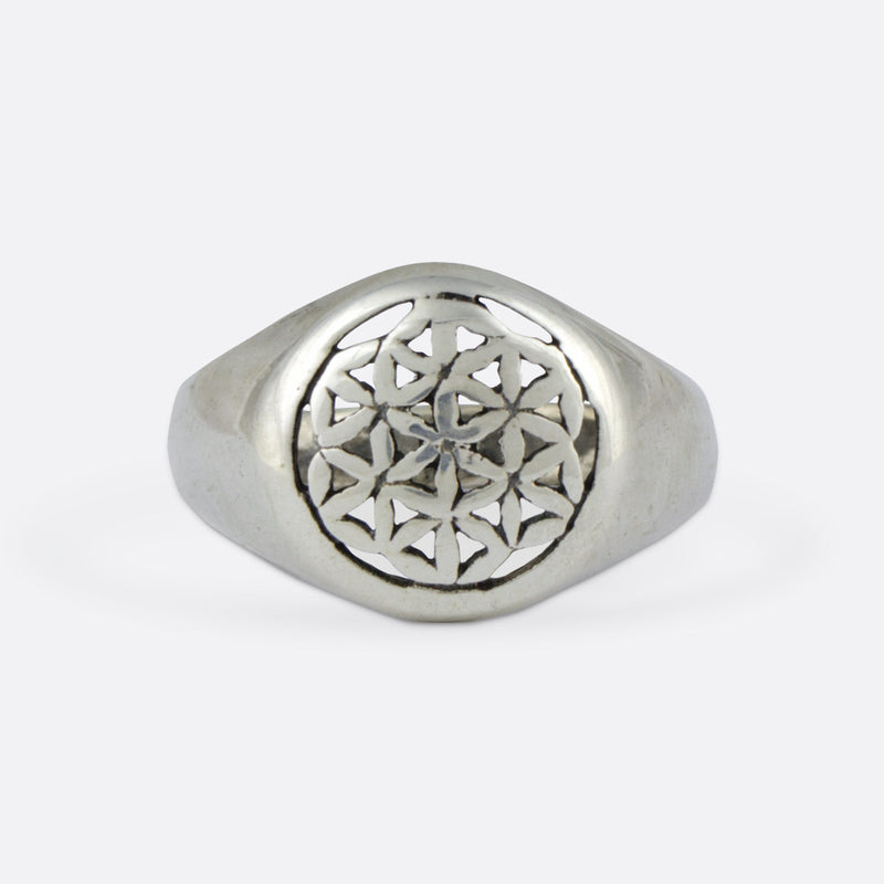 Flower Of Life Ring- Sterling Silver