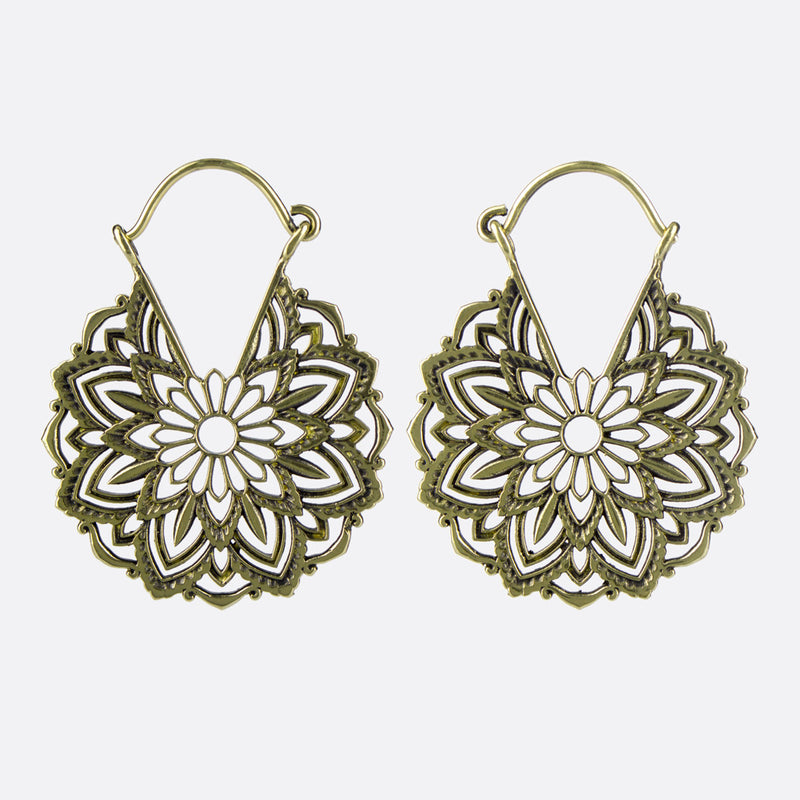 Geometric Mandala Flower Earrings