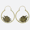 Hanging Lotus Earrings- Gold