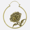Hanging Peony Earrings- Gold