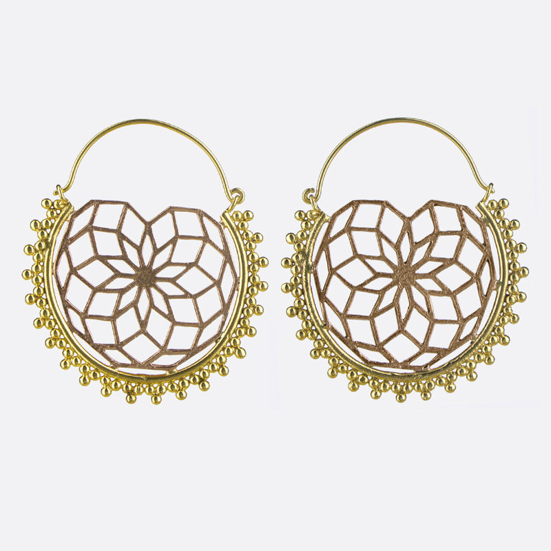 Harmony Geometric Earrings- Gold & Copper