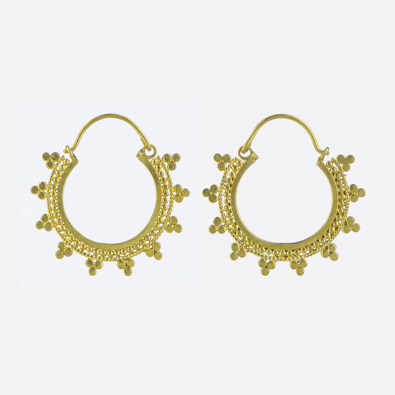 Indian Summer Hoop Earrings- Gold